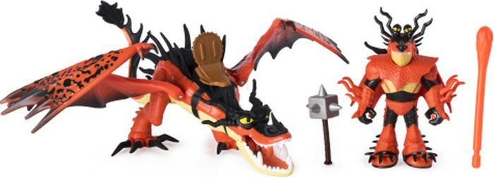 SPIN MASTER HOW TO TRAIN YOUR DRAGON Lohe figuur ja tema Vikingist treener