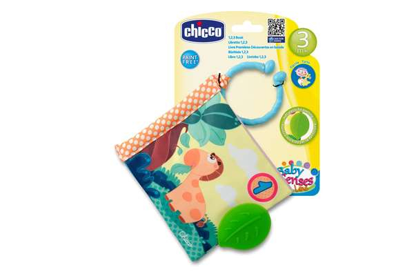 CHICCO 1-2-3 Pehme Raamat