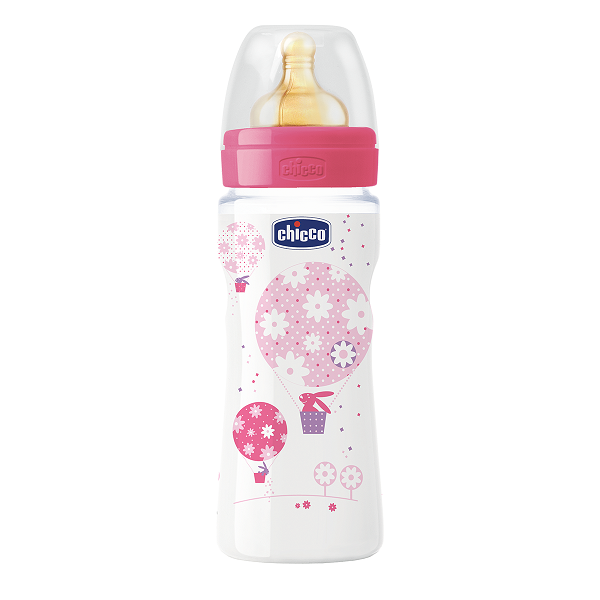 CHICCO WELL-BEING Lutipudel, 330ml (Roosa)