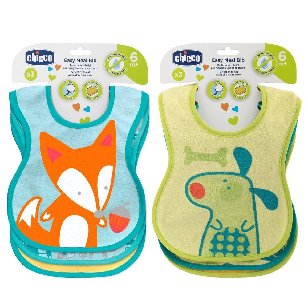 CHICB WEANING BIB 6M+ 3PCS NEUTRAL