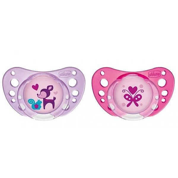 CHICB SOOTHER PH.AIR PINK LTX 6-16M 2PCS B