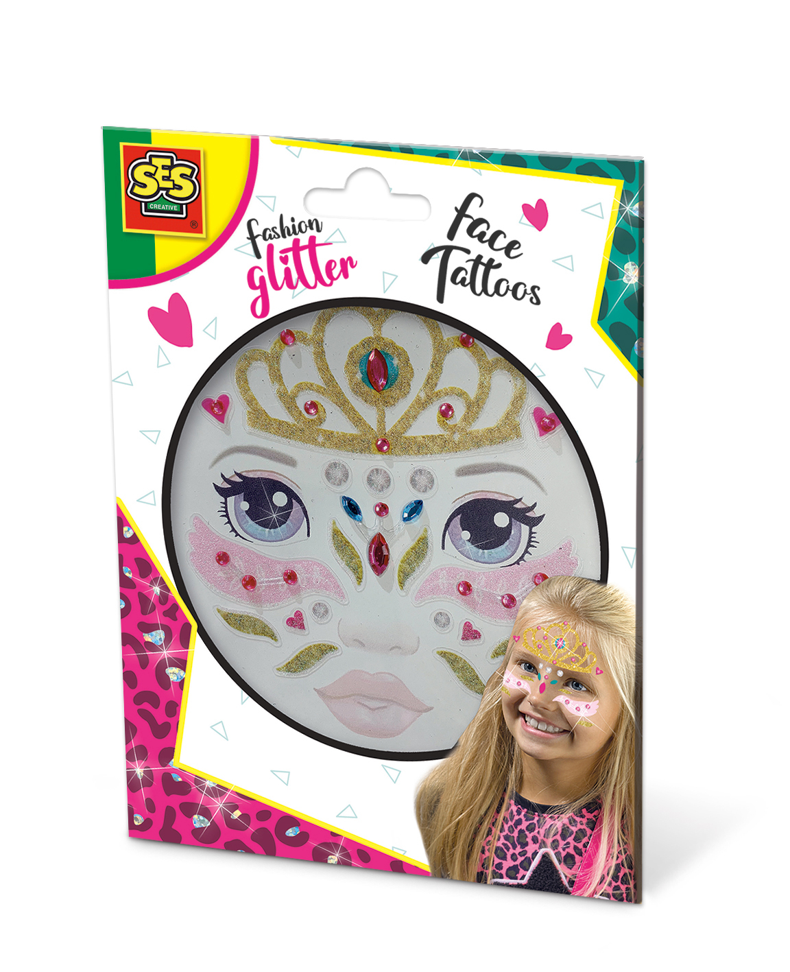 SES Fashion glitter face tattoos -Princess