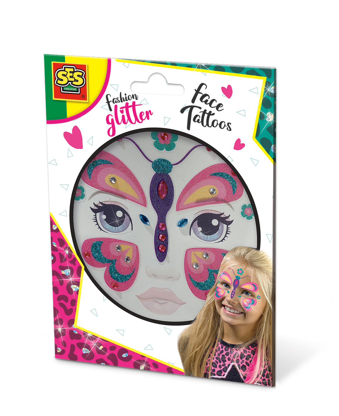 SES Fashion glitter face tattoos - Butterfly