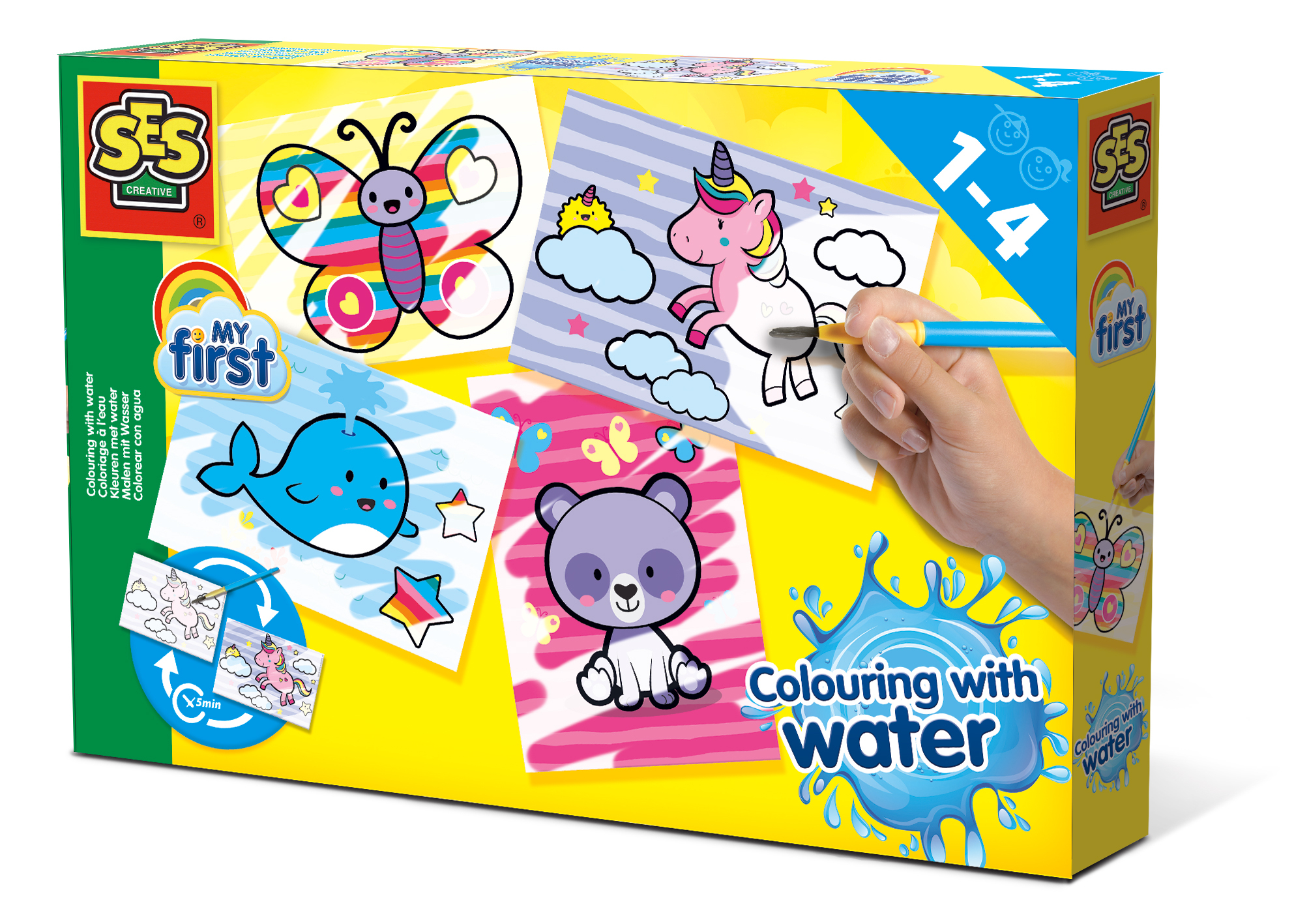 SES Värvimine veega - Fantaasialoomad