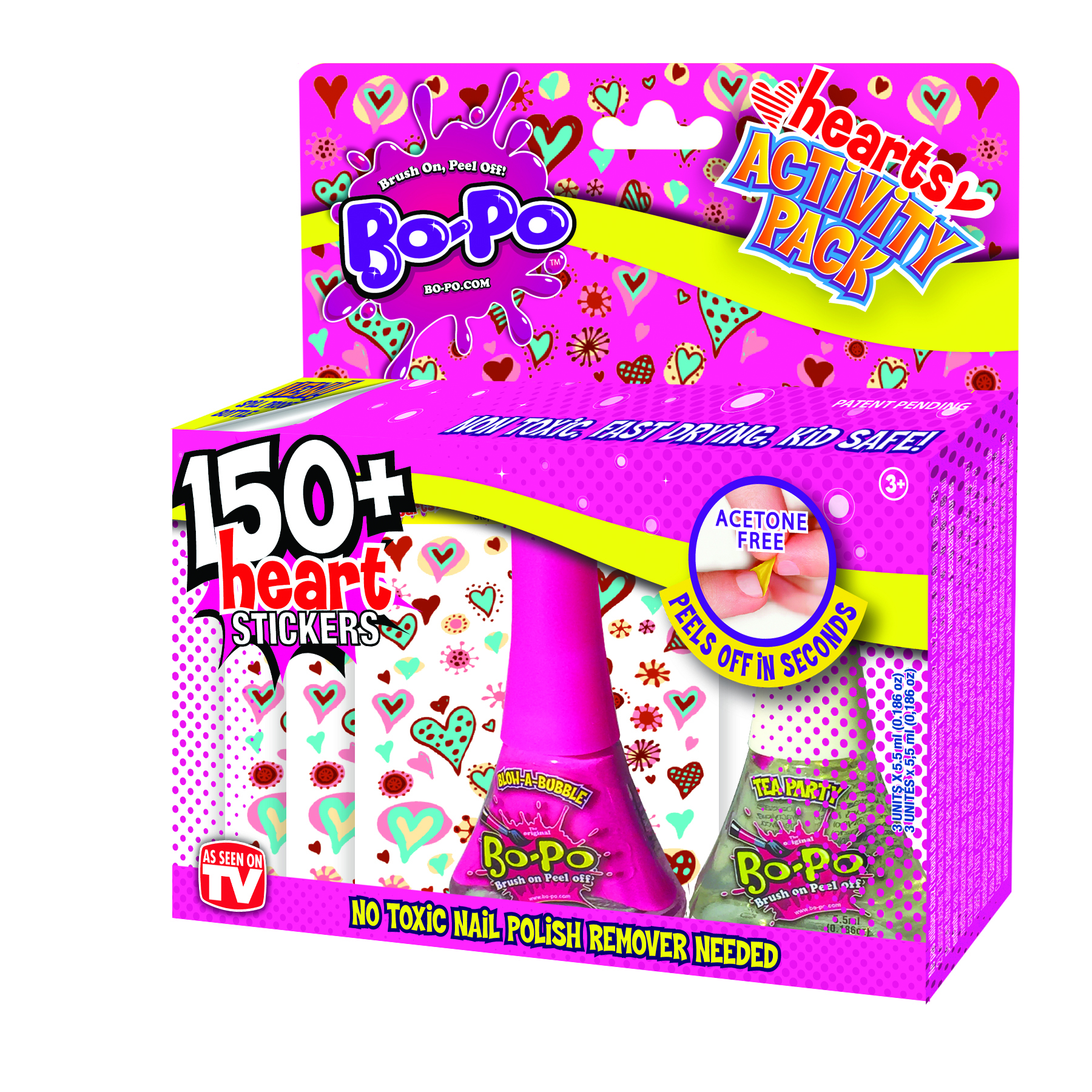 WORXTOYS WORXTOYS BO-PO Activity Pack - Nail Polishes with Stickers