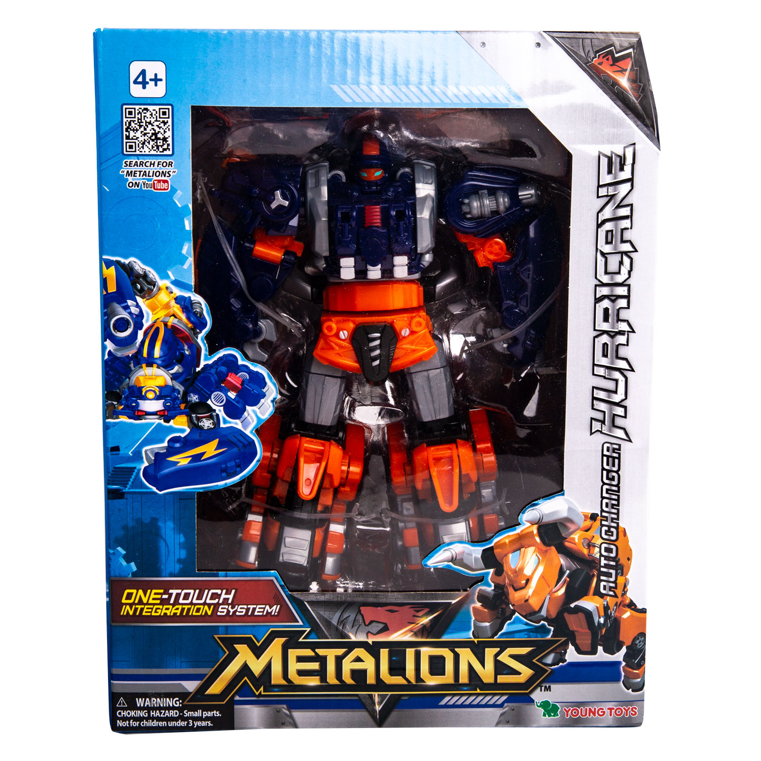 YOUNG TOYS METALIONS Auto-Changer Hurricane Action Figure