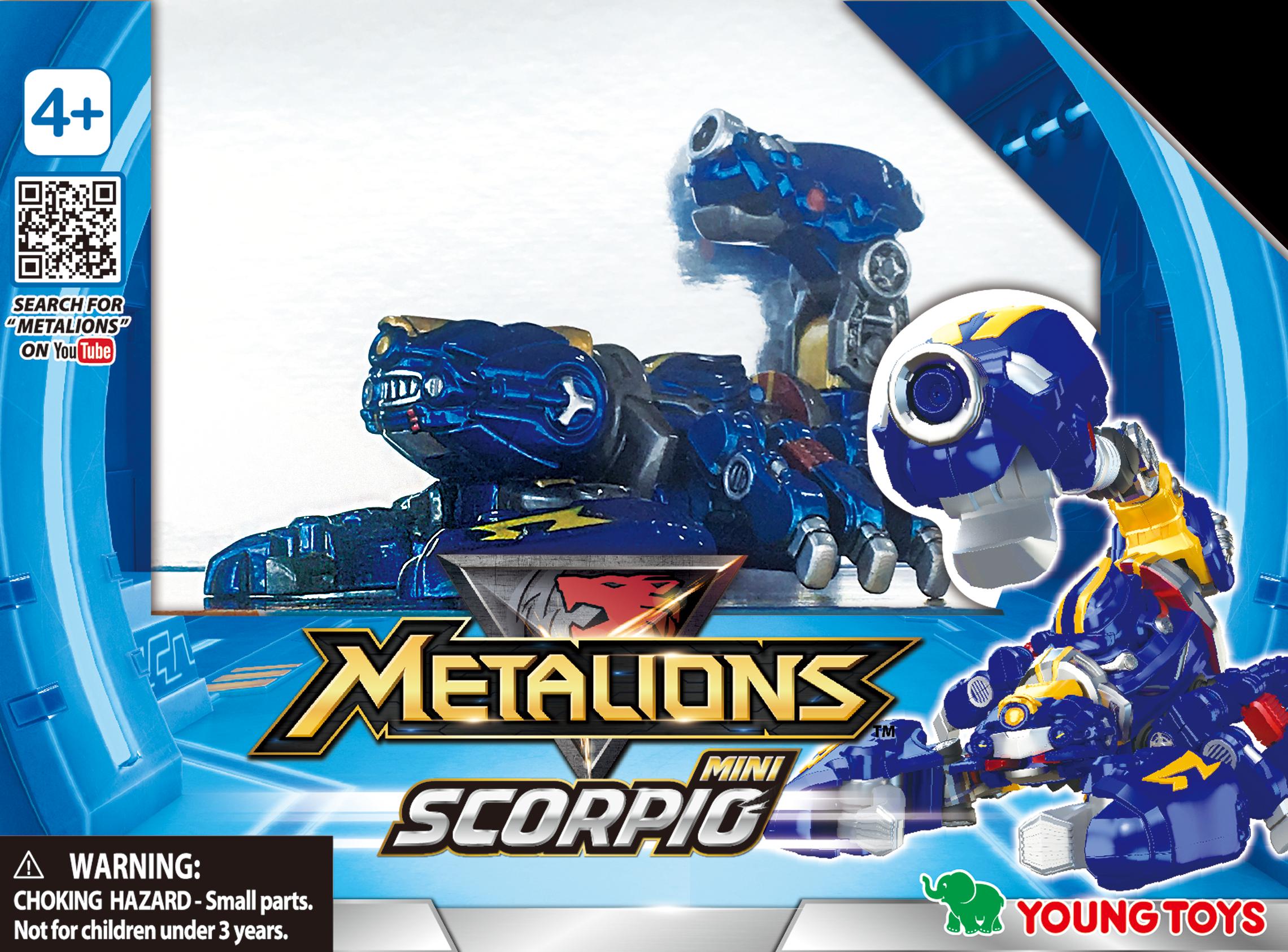 YOUNG TOYS METALIONS Mini Scorpio Action Figure