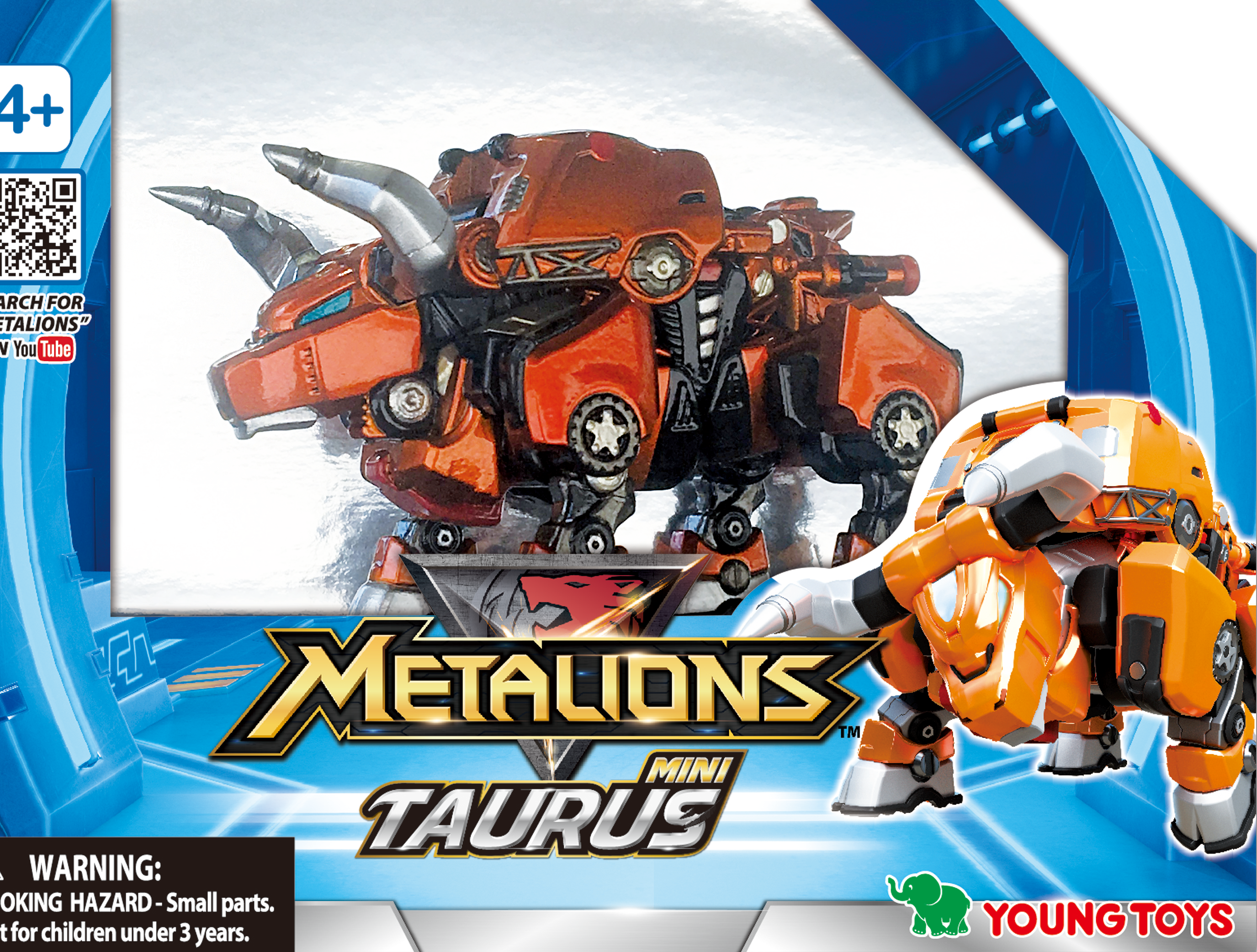 YOUNG TOYS METALIONS Mini Taurus Action Figure
