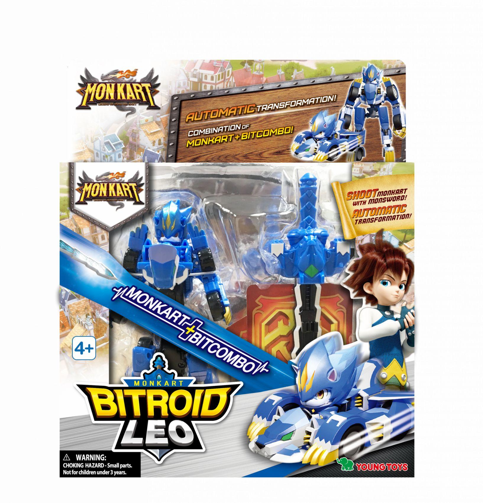 YOUNG TOYS MONKART Robot-Transformer Bitroid Leo-hahmo