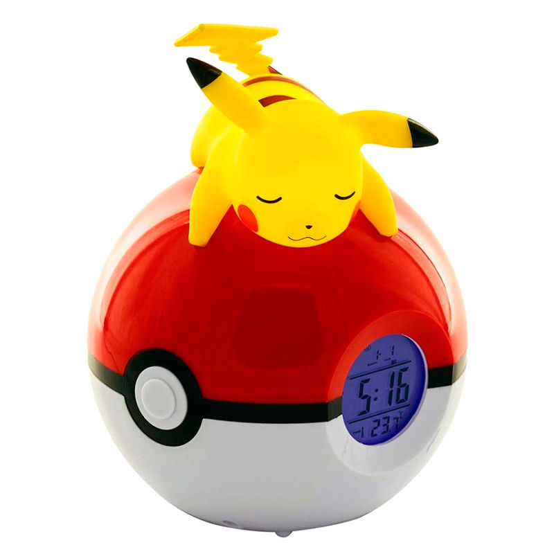 Pokemon Pikachu Pokeball lamp alarm clock