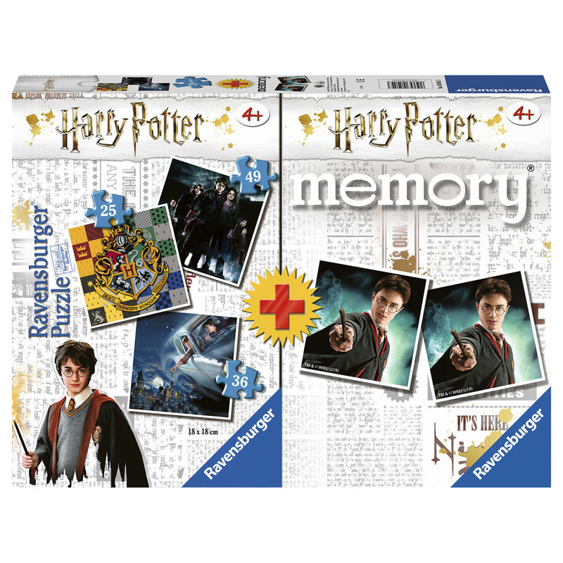 Harry Potter 3 puzzles + memory multipack