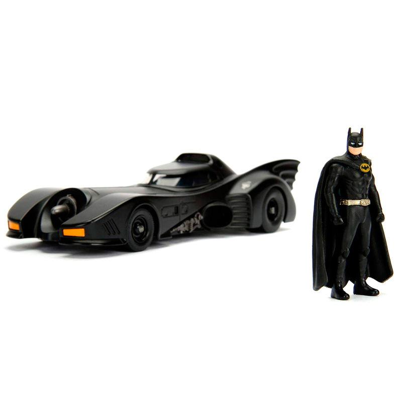 DC Comics Batman Batmovil 1989 metal car & figure set