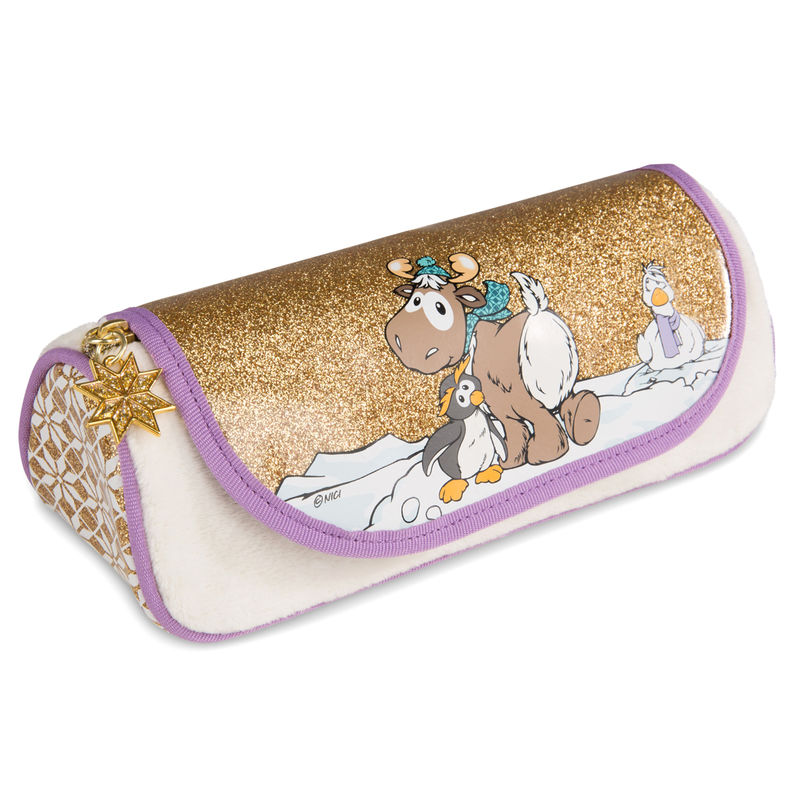 Nici Winter Penguin Frizzy roller pencil case