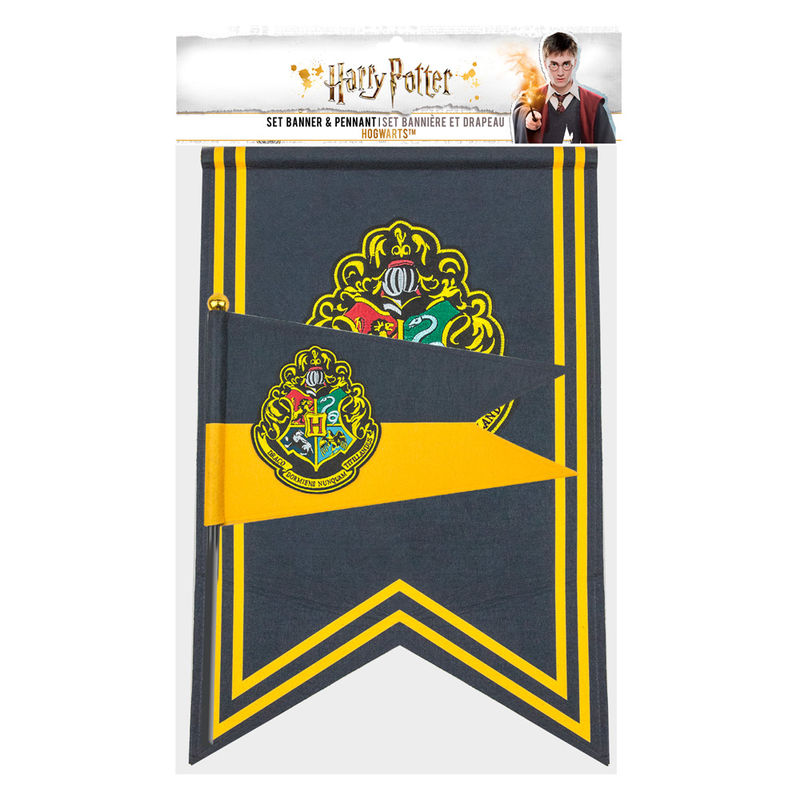 Harry Potter Hogwarts banner and pennant
