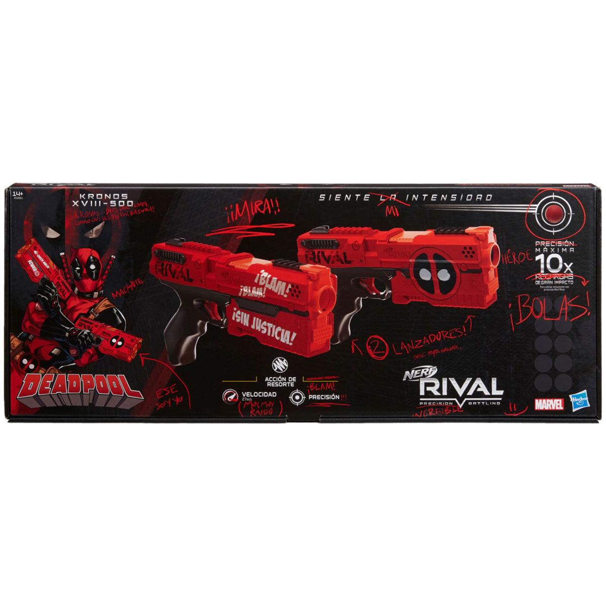 Marvel Deadpool Nerf Rival Kronos XVIII-500 launchers