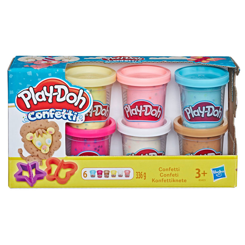 Play-Doh Kitchen Confetti set 6 cans