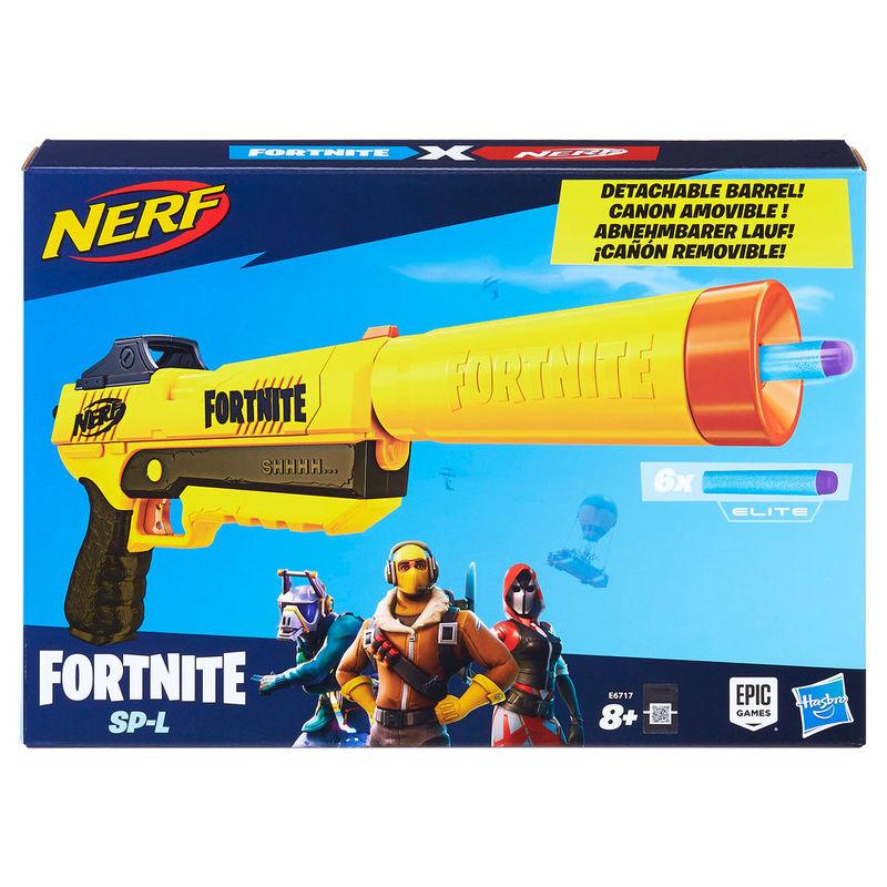 Nerf Fortnite SP-L dart blasting