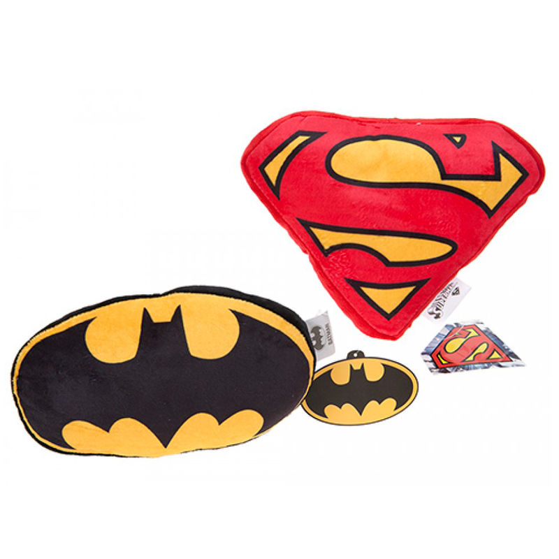 DC Comics Batman and Superma assorted cushion 22cm