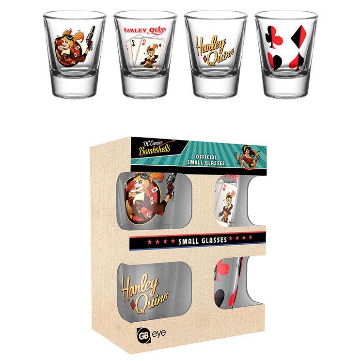 DC Comics Harley Quinn Bombshell pack 4 shot glasses