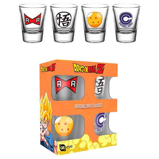 Dragon Ball Z pack 4 shot glasses