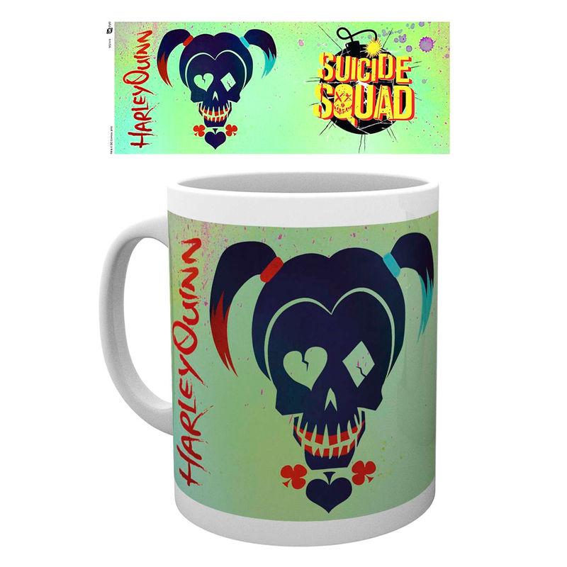 DC Comics Suicide Squad Harley Quinn Skull mug