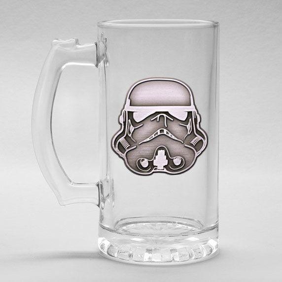 Star Wars Stormtrooper glass stein