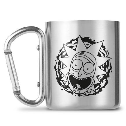 Rick and Morty carabiner mugs