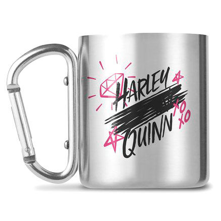 DC Comics Birds of Prey Harley Quinn carabiner mugs