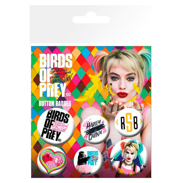 DC Comics Birds of Prey badge pack