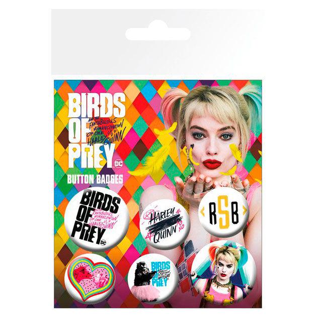 DC Comics Birds of Prey badge pack