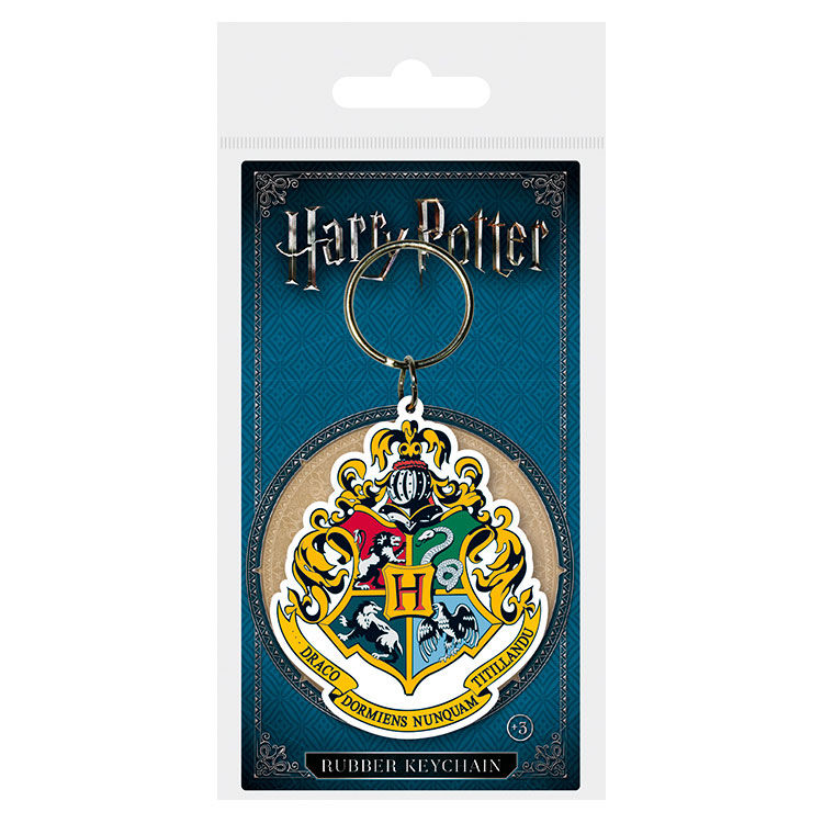 Harry Potter Hogwarts Crest rubber keychain