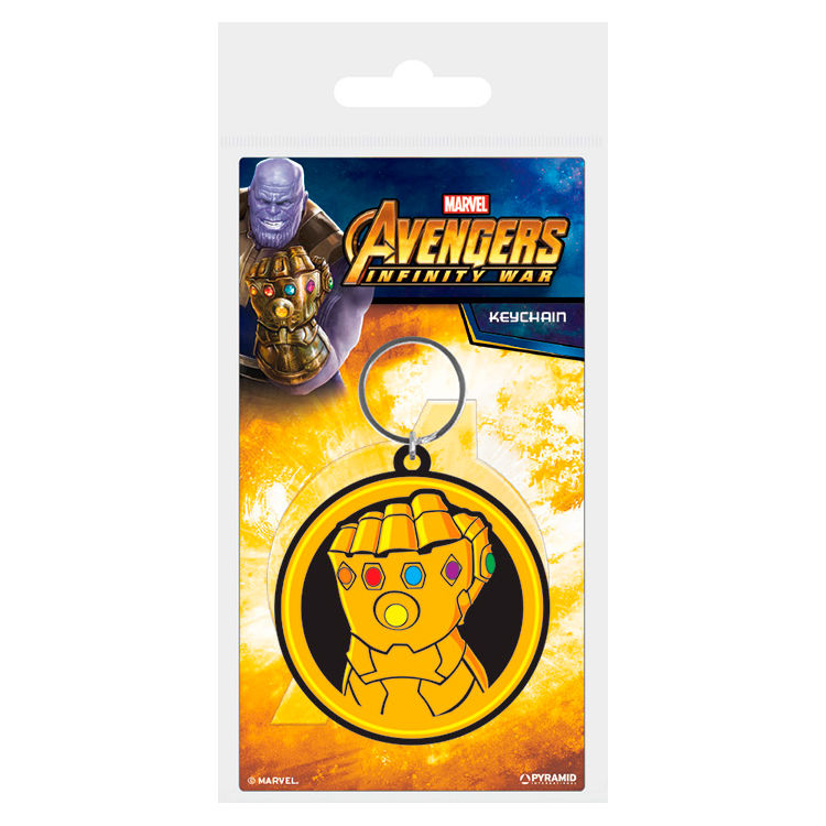 Marvel Avengers Infinity War Thanos rubber keychain
