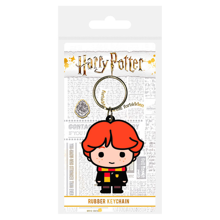 Harry Potter Ron Weasley rubber keychain