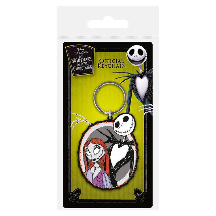 Disney Nightmare Before Christmas Jack & Sally keychain