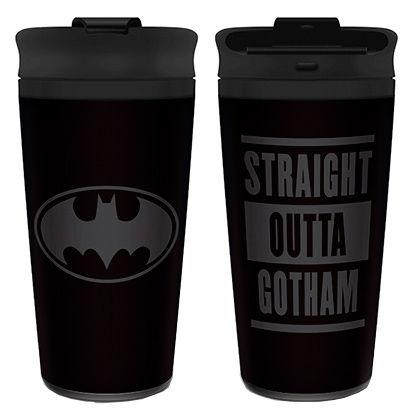DC Comics Batman Straight Outta Gotham travel mug