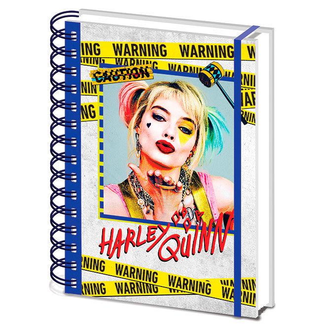 DC Comics Birds of Prey Harley Quinn Warning A5 notebook