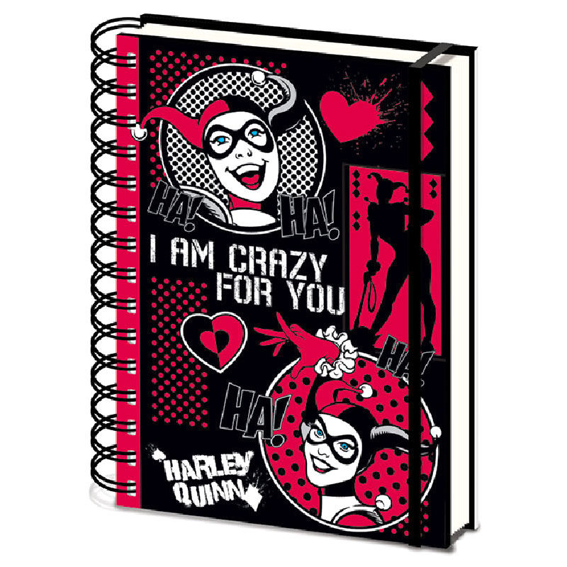 DC Comics Harley Quinn Crazy for You A5 notebook