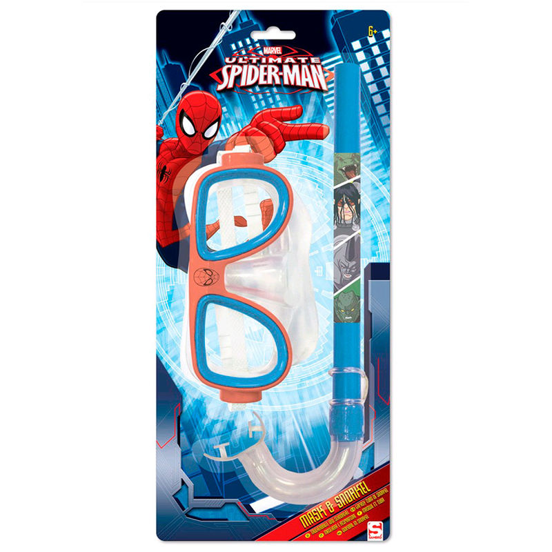 Marvel Spiderman mask and snorkel set