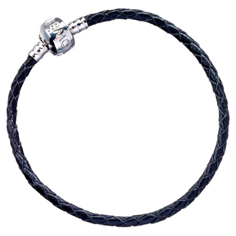 Harry Potter black leather charm bracelet