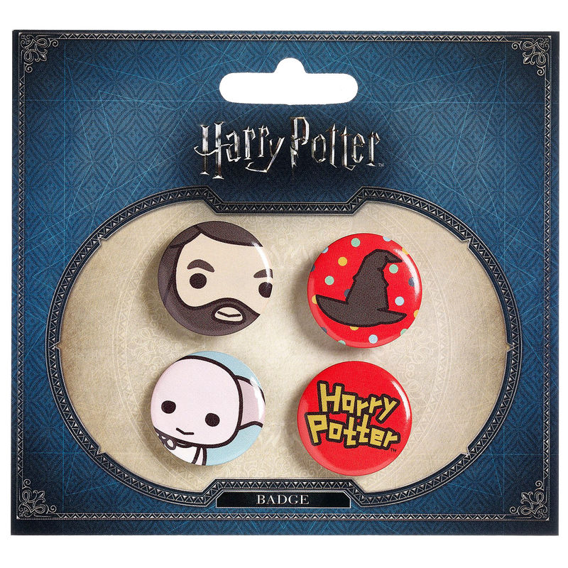 Harry Potter set 4 assorted pin badge