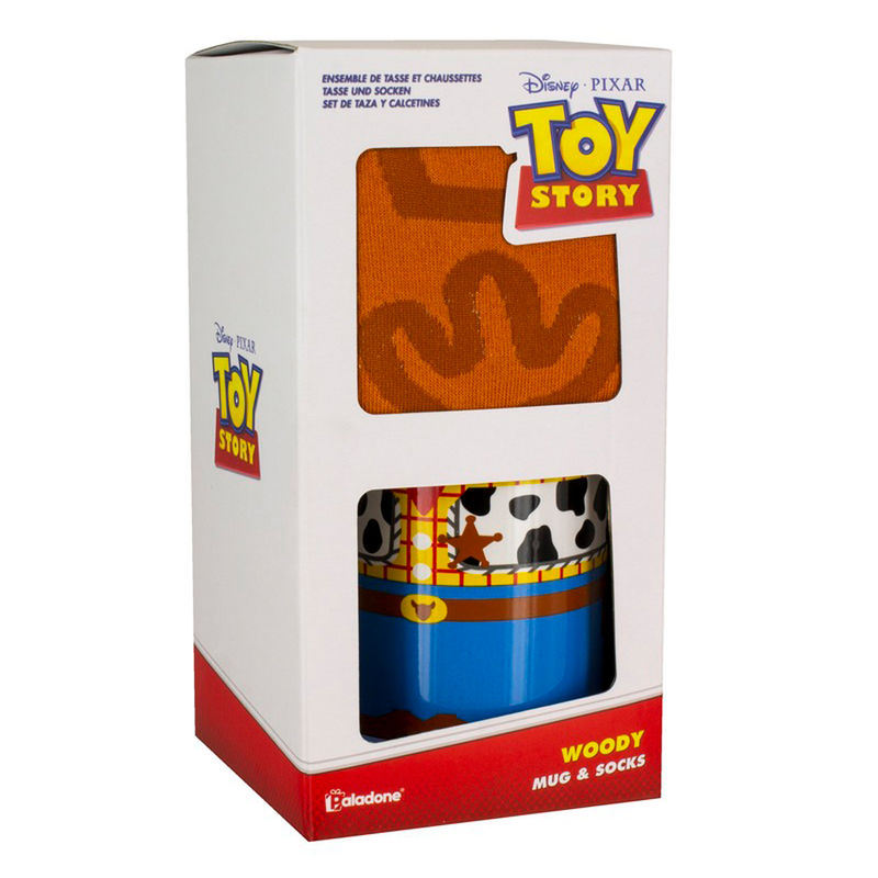 Disney Toy Story Woody breakfast mug + socks
