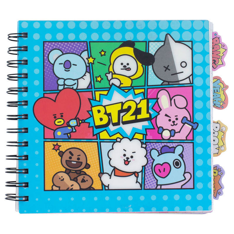 BT21 notebook with bookmarks