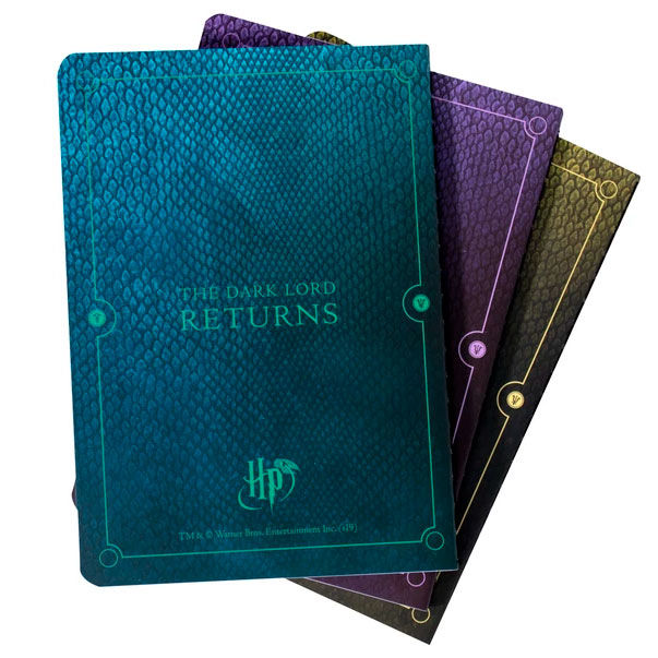 Harry Potter Villains pack 3 A6 notebooks