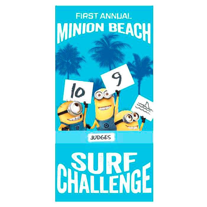 Minions microfiber beach towel