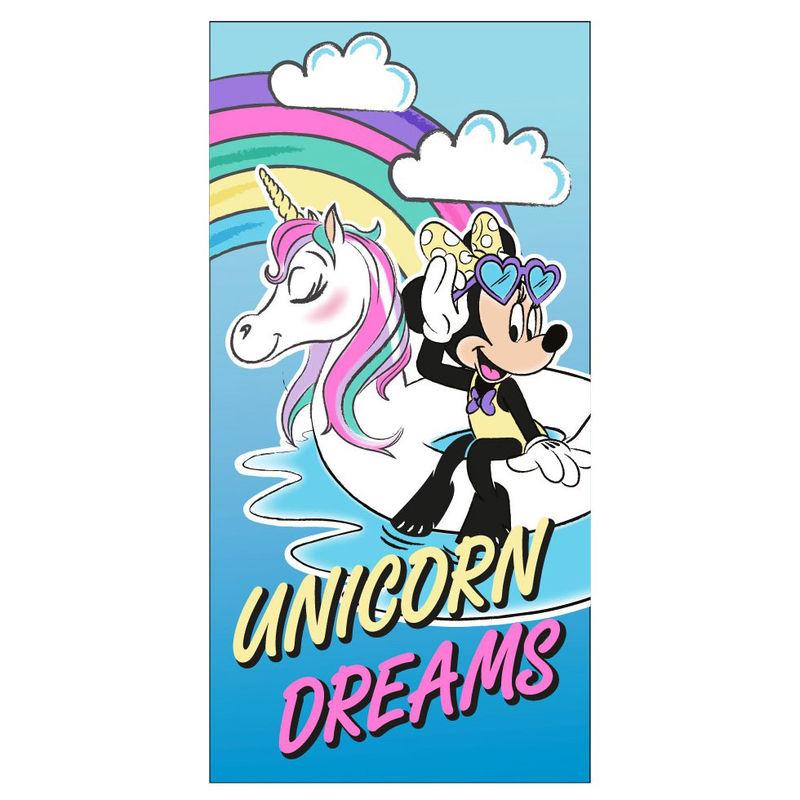 Disney Minnie Unicorn Dreams microfiber beach towel