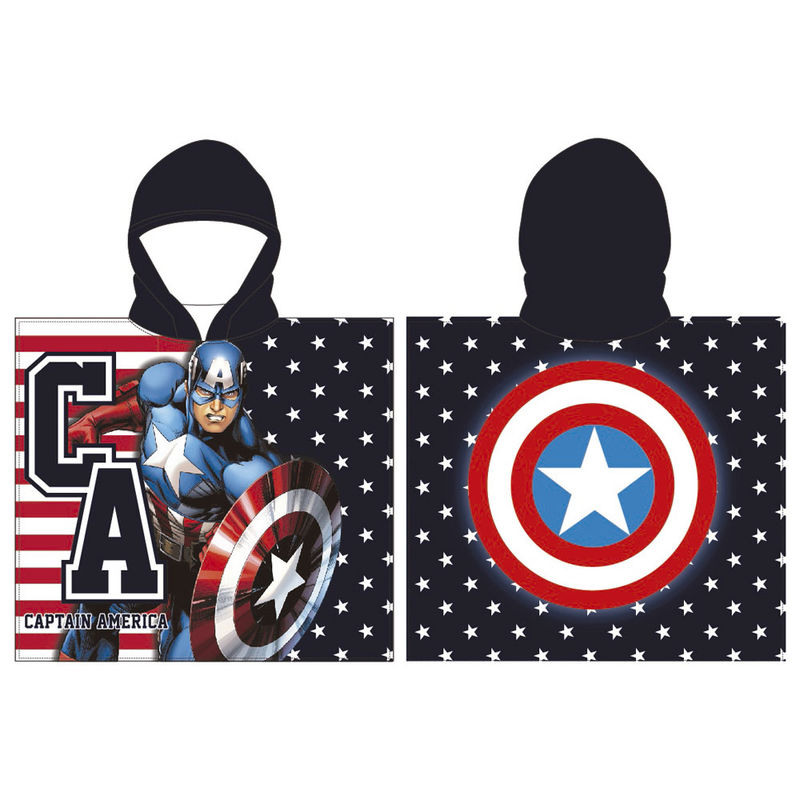 Marvel Captain America poncho towel