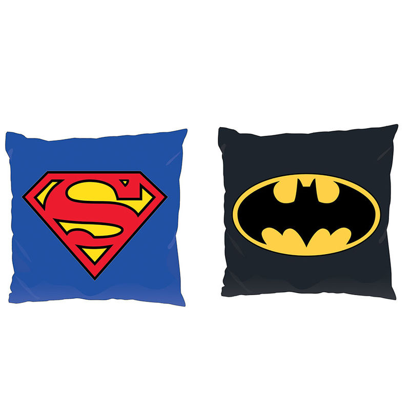 Batman Superman DC logo assorted cushion