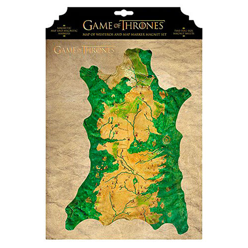 Game of Thrones Westeros magnetic map
