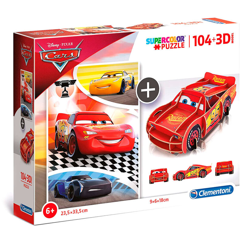 Disney Cars 104 + 3D puzzle 104pcs
