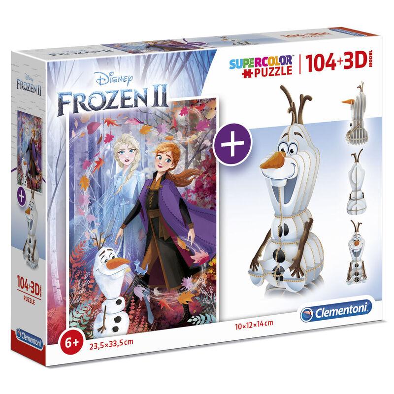 Disney Frozen 2 104 + 3D puzzle 104pcs